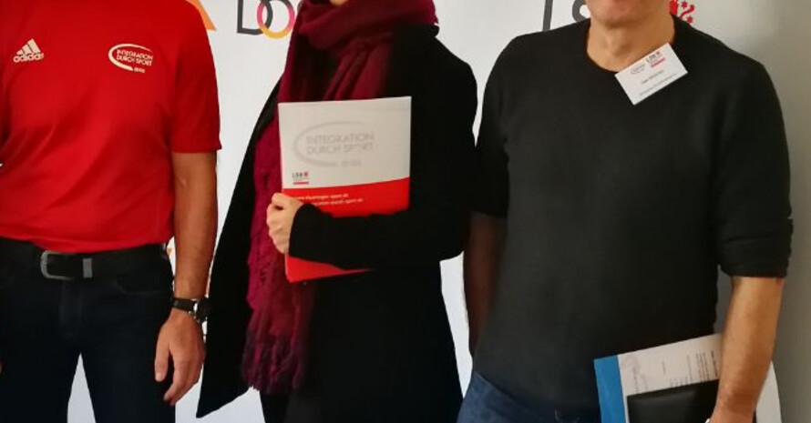 Leila Khorsandi (Bildmitte) hat beim Schöndorfer SV eine Sportgruppe für muslimische Frauen aufgebaut. Fotos: LSB Thüringen