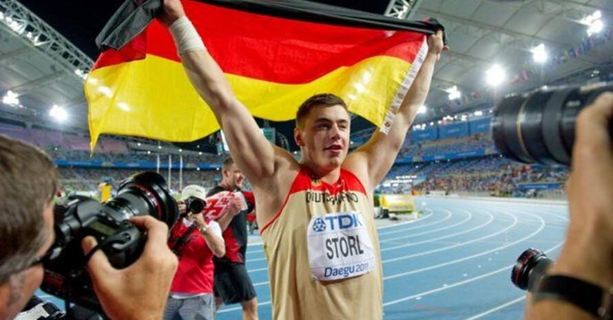 David Storl gewann in Daegu als erster Deutscher den WM-Titel im Kugelstoßen. Foto: picture-alliance