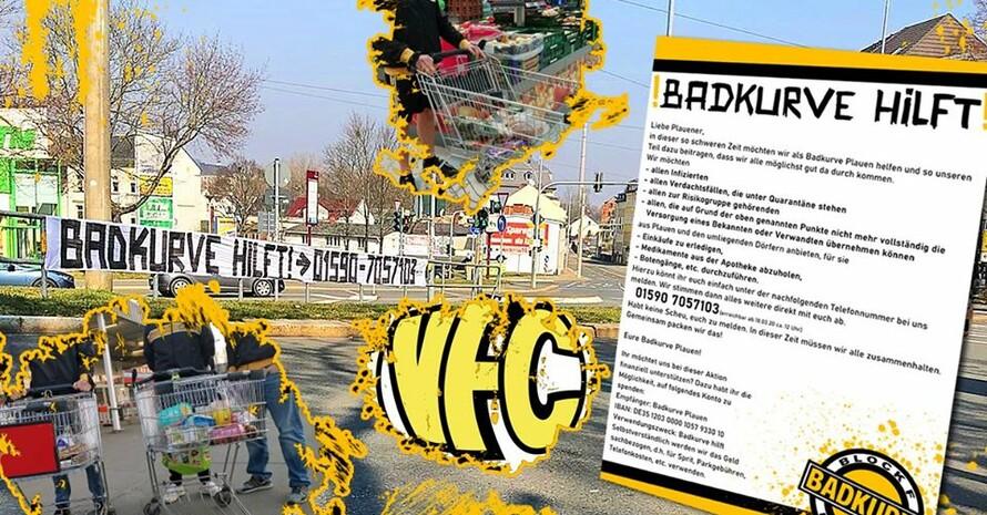 """Initiative """"Badkurve Hilft"""" Foto: VFC Plauen e.V."""