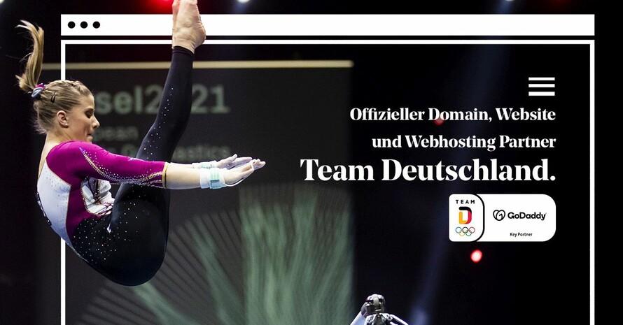 GoDaddy unterstützt das Olympia Team Deutschland sowie konkret die Turn-Rekordmeisterin Elisabeth Seitz. Foto: picture-alliance