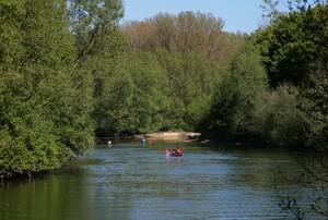 Kanuausflug auf der Lippe in Nordrhein-Westfalen; Foto: picture-alliance