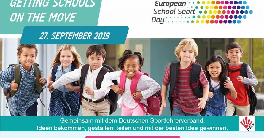 Der Europäische Schulsporttag soll Kindern und Jugendlichen Spaß und Freude an Bewegung vermitteln. Foto/Screenshot: DSLV
