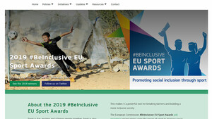 Webseite des 2019 #Beinclusive EU Sport Awards. Screenshot: sport/be-inclusive