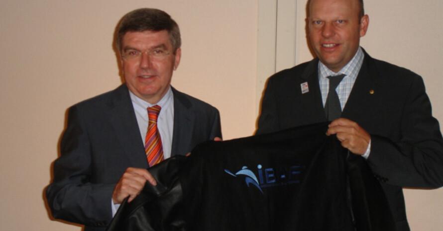 DOSB-Präsident Dr. Thomas Bach und IBAF-Vizepräsident Martin Miller.
