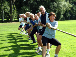 Die Gruppe der Älteren leistet in Vereinen eine wichtigen Beitrag als Sporttreibende, Übungsleiter*innen oder als Ehrenamtliche. Foto: LSB NRW
