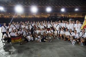 Das Foto zeigt die deutsche Delegation bei den World Games 2009 in Kaohsiung (Taiwan). Foto: DOSB