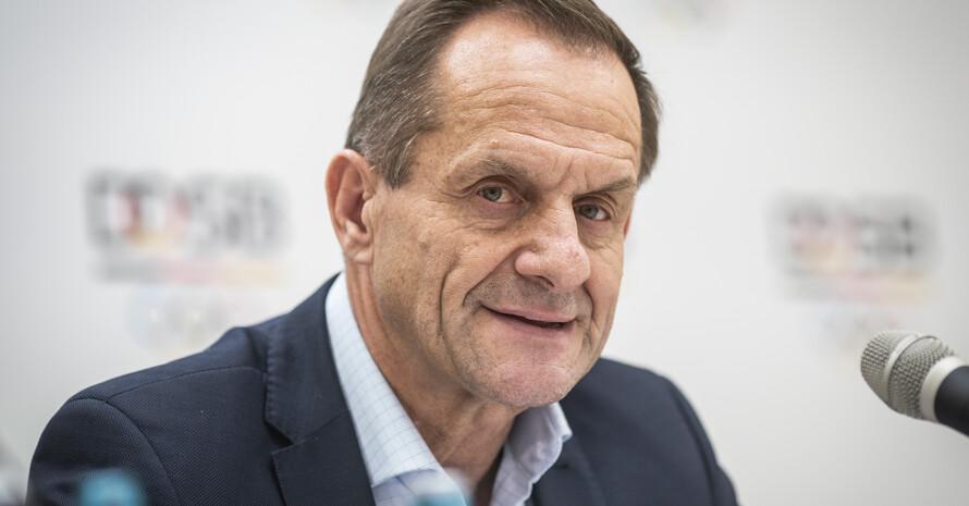 DOSB-Präsident Alfons Hörmann hat sich auf einer virtuellen Pressekonferenz zum Vergabeprozess der Olympischen und Paralympischen Spiele 2032 geäußert. Foto: picture-alliance