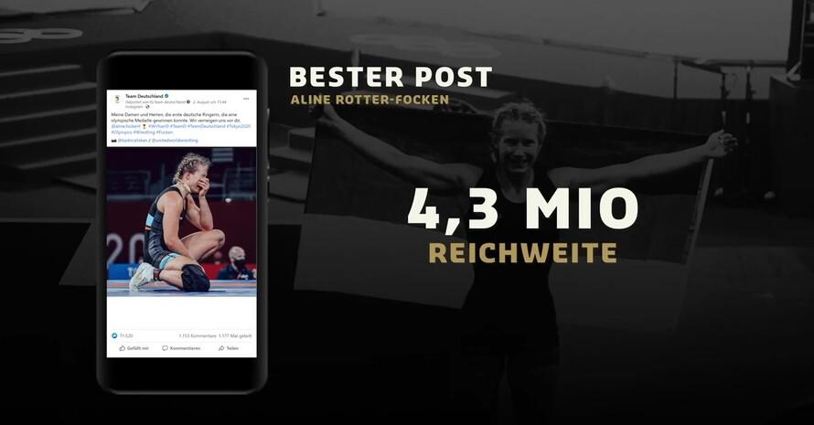 Der erfolgreichste Poste der Olympischen Spiele von Tokio: Ringerin Aline Rotter-Focken gewinnt Gold. Foto: DOSB