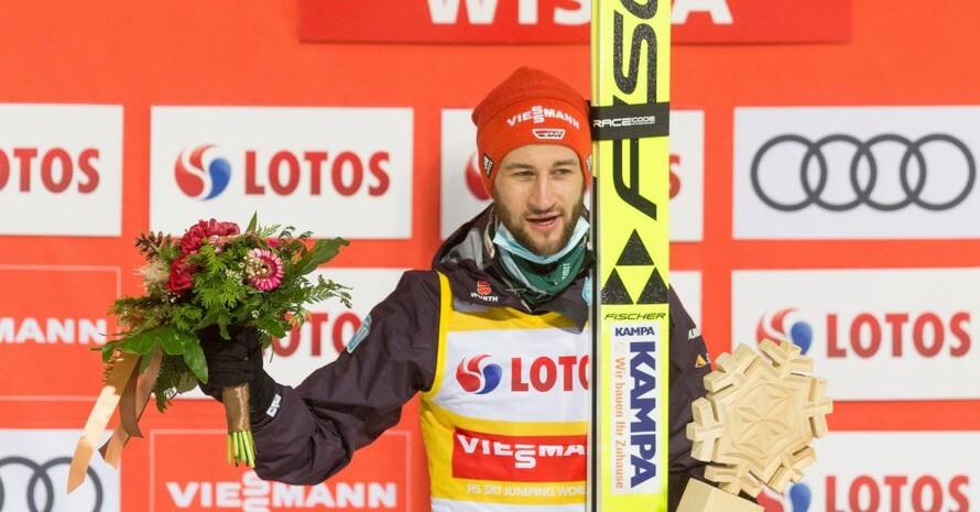 Markus Eisenbichler ist der derzeit gesamtführende des Skisprung-Weltcups. Foto: picture-alliance