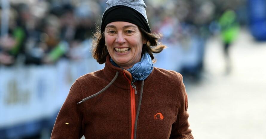 Katharina Barley läuft 2019 bei einem Silvesterlauf in Trier mit. Foto: picture-alliance