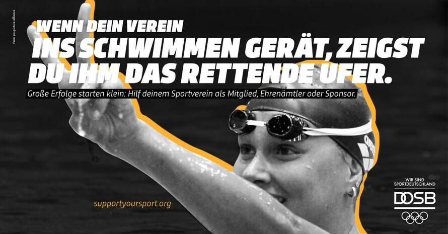 Auch Franziska van Almsick hat mit dem Sport in einem der 90.000 Sportvereine in Deutshcland begonnen. Foto: DOSB/picture-alliance