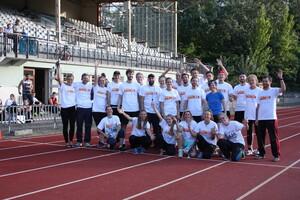 Teile der ausgebildeten Prüfenden des Projektseminars im Rahmen der Kooperation zw. LSB, Institut für Sportwissenschaft und Hochschulsport (Foto: HU Berlin)