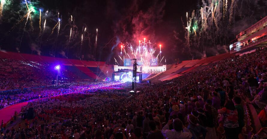 Special Olympics World Games 2015 in Los Angeles: Impressionen von der Eröffnungsveranstaltung. Foto: SOD/Luca Siermann