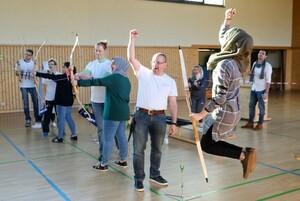 Spontan-Wettkampf der Frauen beim Bogenschießen