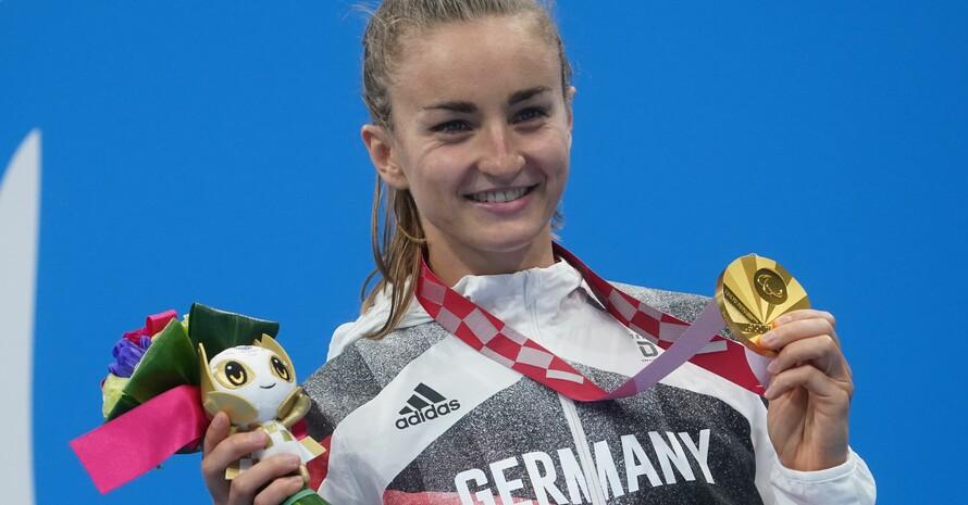 Elena Krawzow freut sich über ihren Gold-Coup. Foto: picture-alliance
