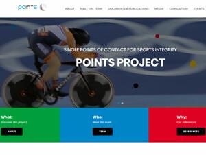 Website zum EU-Projekt POINTS Copyright: www.points-project.com