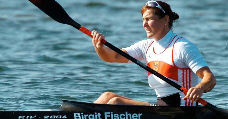 Die mehrfache Olympiasiegerin Birgit Fischer unterstützt den Umweltpreis als Schirmherrin. Copyright: picture-alliance/dpa
