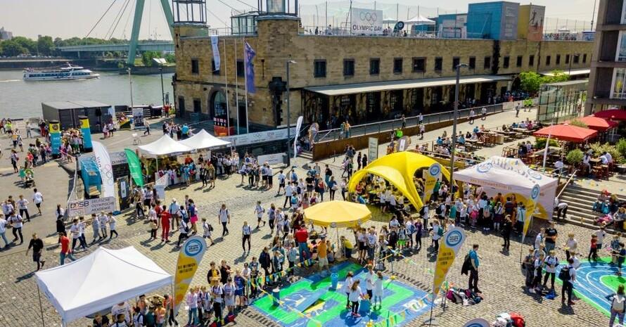 """Der """"Olympic Day"""" 2019 rund um das Deutsche Sport & Olympia Museum am Rheinhafen. Foto: DOA/Edeka"""