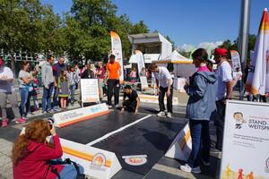 Die mobile Sportabzeichen-Station lädt zum Mitmachen ein (Foto: DSM)