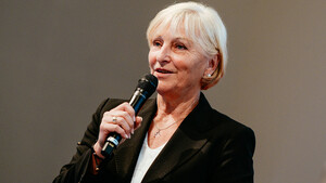 Ulla Koch auf der Mitgliederversammlung des DOSB in Frankfurt 2019. Foto: DOSB/Jan Haas