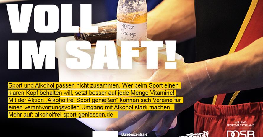 Die Prävention von Alkoholmissbrauch ist eine wichtige gesamtgesellschaftliche Aufgabe, der sich auch der Sport stellt. Logo: BZgA