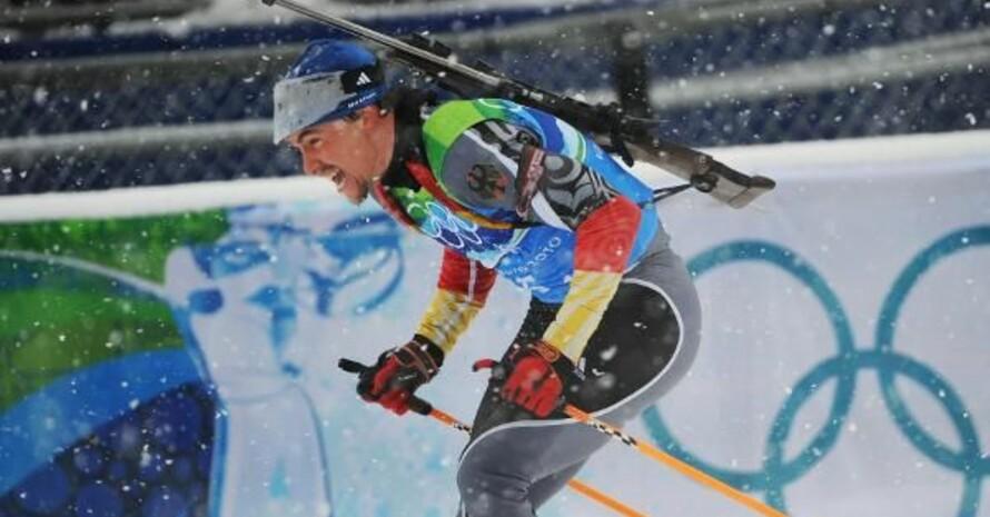 Michael Greis war Schlussläufer des deutschen Quartetts im dichten Schneetreiben. Copyright: picture-alliance