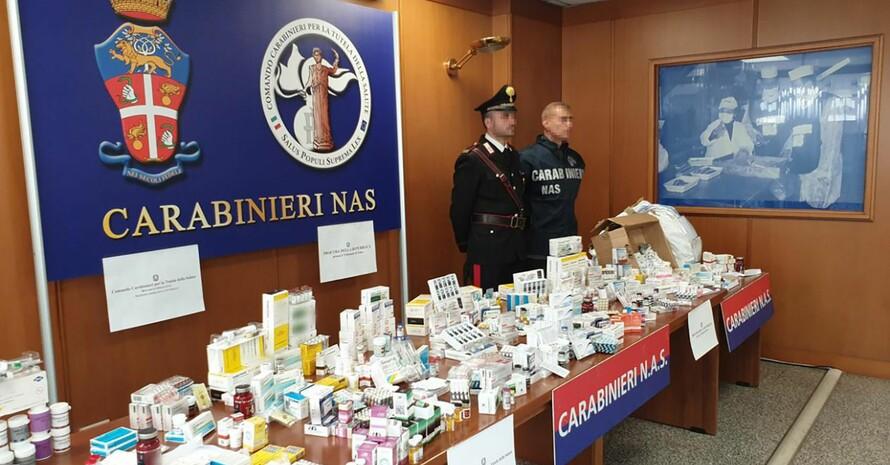 Das von den italienischen Carabinieri herausgegebene Foto zeigt bei der Operation Viribus beschlagnahmte Dopingmittel. Foto: picture-alliance