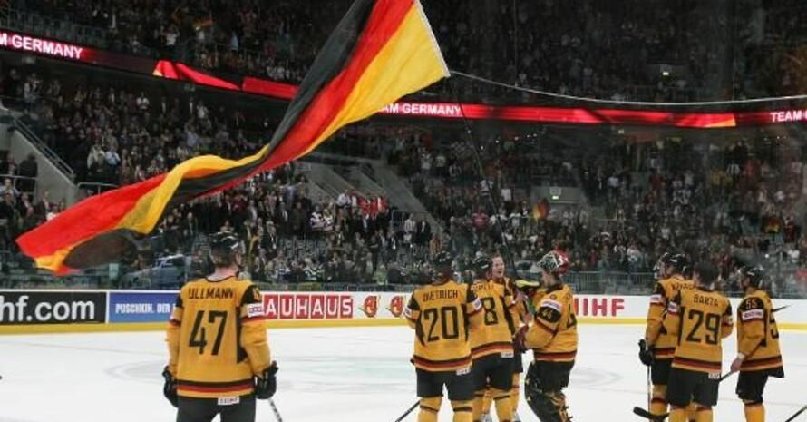 Die deutsche Mannschaft siegte am 20. Mai gegen die Schweiz und steht im Halbfinale. Auch die Bewerbungsgesellschaft München 2018 freut sich über den tollen Erfolg. Copyright: picture-alliance