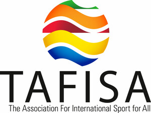 TAFISA ist die Organisation für internationalen Sport für alle (The Association For International Sport for All). Logo: tafisa.org