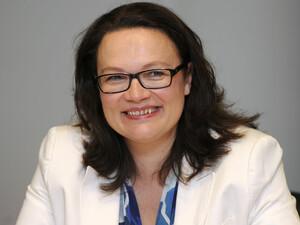 Andrea Nahles ist Bundesministerin für Arbeit und Soziales. Foto: picture-alliance