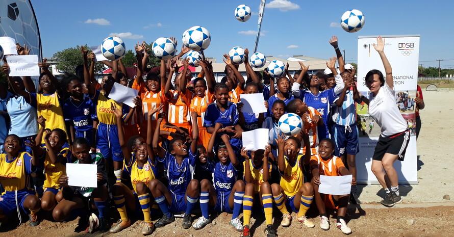 In Botsuana; Foto: DOSB
