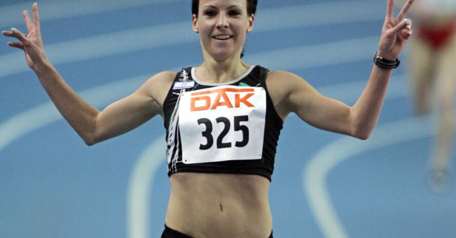 Die amtierende Deutsche Meisterin, Sabrina Mockenhaupt, gewann das Hauptrennen über 10 km. Copyright: picture-alliance/dpa