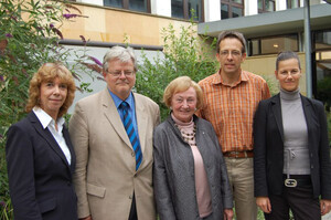 Gudrun Doll-Tepper, Dietmar Mieth, Erika Dienstl, Volker Monnerjahn, Michèle Morner (v.l.). Foto: DOSB