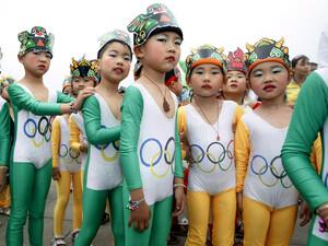 """""""Olympische Spiele - wie ich sie sehe"""", so das Motto des Malwettbewerbs. Copyight: picture-alliance"""