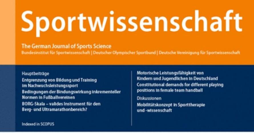 Screenshot vom Titel der Zeitschrift Sportwissenschaft