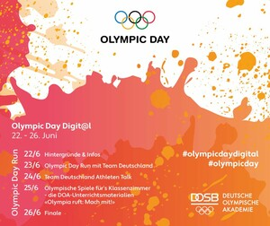Der Olympic Day in diesem Jahr digital als Wochenprogramm. Copyright: DOA
