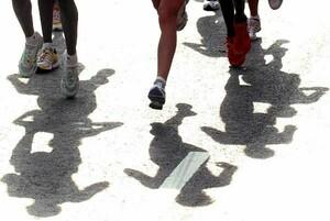 Laufen für die rund 4.000 von der Sporthilfe geförderten Athletinnen und Athleten; Foto: picture-alliance