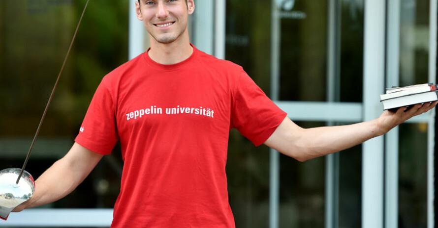 Säbelfechter Max Hartung hat trotz Leistungssport sein Studium in der Regelstudienzeit absolviert. Foto: picture-alliance