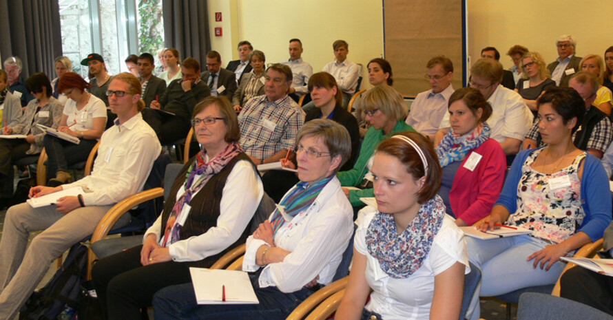 Teilnehmerinnen und Teilnehmer des Fachforums zum Thema Inklusion. Fotos: DOSB