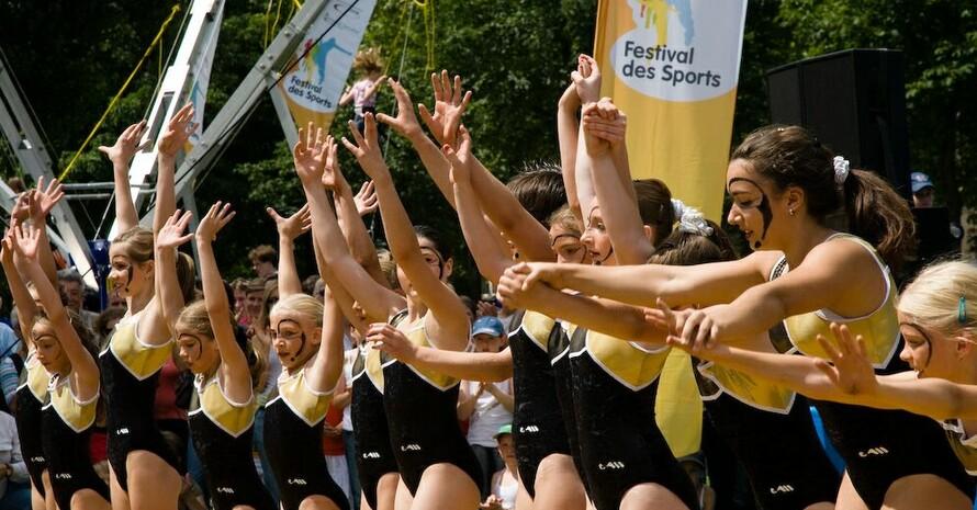 Ganz viel Applaus bekam diese Mädchentanzgruppe beim Festival des Sports. Foto: Sportkreis Heidelberg