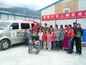 Der Kinderbus wurde jetzt übergeben. Foto: GK Chengdu