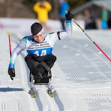 Anja Wicker gewann in Sotschi Gold und Silber im Biathlon. Foto: DBS/Ralf Kuckuck