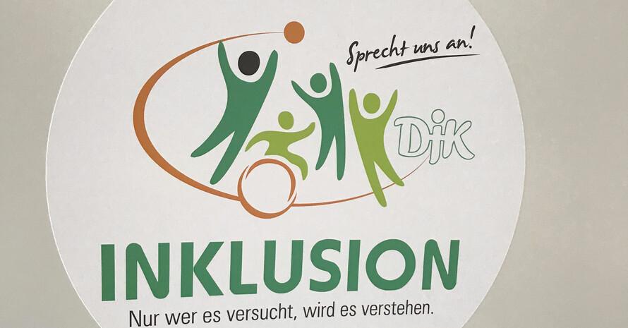 """Das neu gestaltete Logo mit dem Slogan """"INKLUSION - Nur wer es versucht, wird es verstehen!"""" Foto: DJK"""