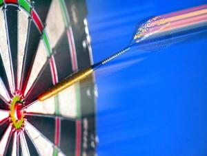 Dart gehört zukünftig zum Programm der Sportfamilie im Deutschen Olympischen Sportbund. Copyright: picture-alliance