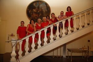Frauen-Power: die Mitglieder des BLSV-Verbandsfrauenbeirates mit BLSV-Ehrenmitglied Lydia Sigl beim BLSV-Verbandstag 2018,  Foto: BLSV