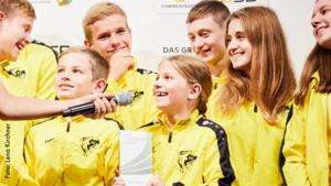 50 Vereine werden mit dem Grünen Band für vorbildliche Talentförderung ausgezeichnet. Foto: Lena Kirchner