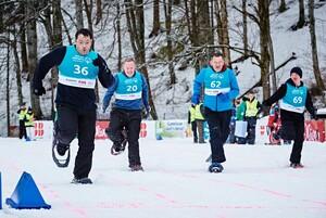 Bei den Nationalen Winterspielen in Inzell sorgten die Schneeschuh-Sprints für große Begeisterung. Foto: Tom Gonsior
