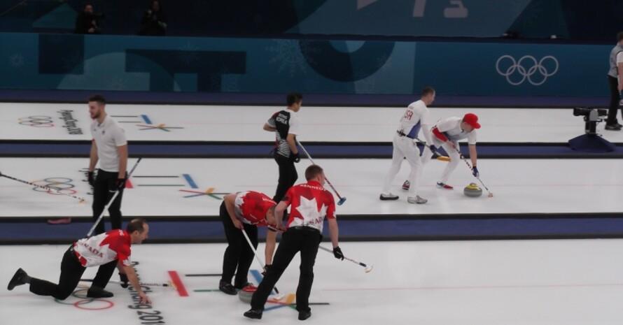 Volle Konzentration beim Curling.