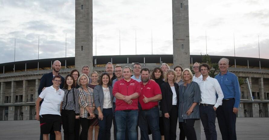 Der Besuch der Evaluierungskommission endete im Olympiastadion mit einem Empfang des Berliner Senats, gemeinsam mit Berliner und Brandenburger Athletinnen und Athleten. Foto: Annette Hauschild