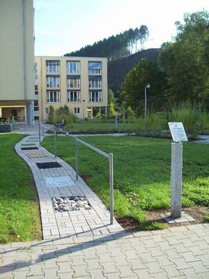 Der Aktiv- und Sinnesgarten beim Ev. Altenzentrum in Kirchen.